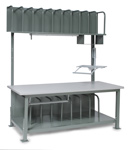 Packaging Bench W/CRT Arm