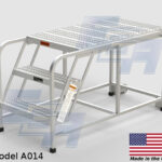 aluminum portable work platform ladder