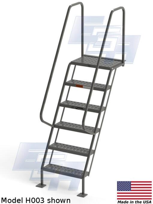All-Welded Access Stairways – EZY Tread