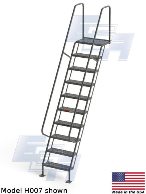 All-Welded Access Stairways ∠60º (H – SERIES)