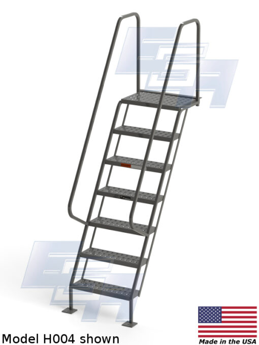 All-Welded Access Stairways – EZY Tread