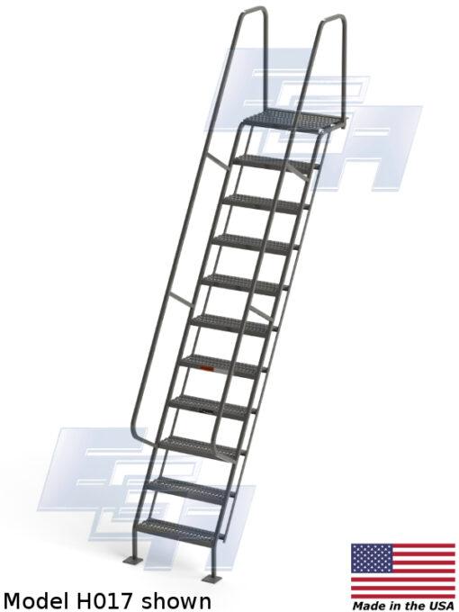 All-Welded Access Stairways – Grip Strut