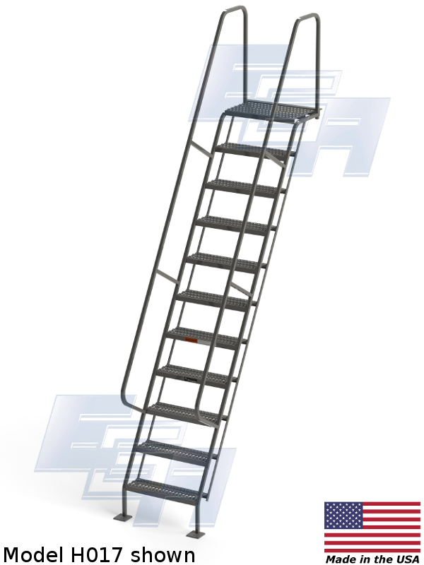 model h017 wall mounted ladder