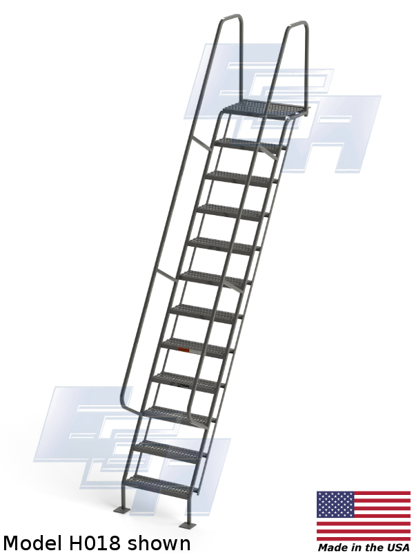 m018 wall mounted ladder