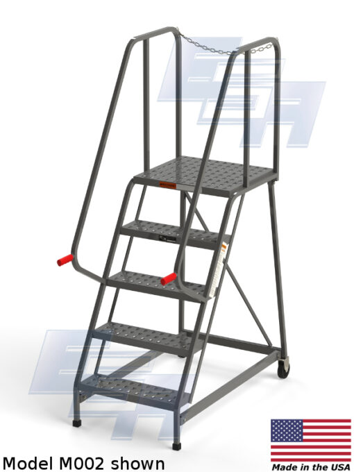 Rolling Service Ladders ∠60º (M – SERIES) [Made in the USA]