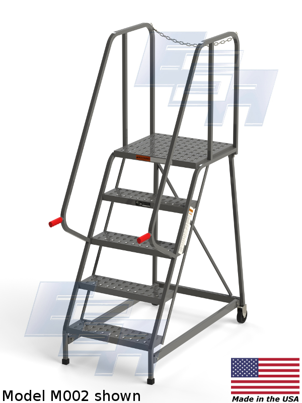 Industrial Rolling Ladders Ega Products Inc Made In Usa