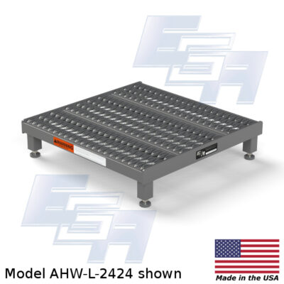 Model AHW-L-2424 One Step Adjustable Height Work Access Platform by EGA Products