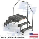 EGA Products custom work platform ladder CW6-33-3-3