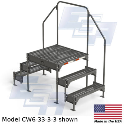 EGA Products custom work platform ladder CW6-33-3-3