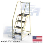 model f007 rolling office ladder 4 steps