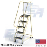f008 rolling office ladder