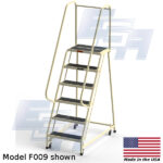 model f009 rolling office ladder
