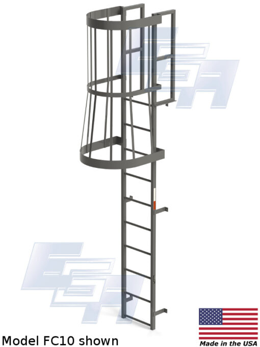 Roof Ladder Cage Requirements Fixed Vertical Cage Ladders