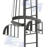 fixed cage ladder security swivel gate