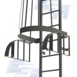 fixed cage ladder