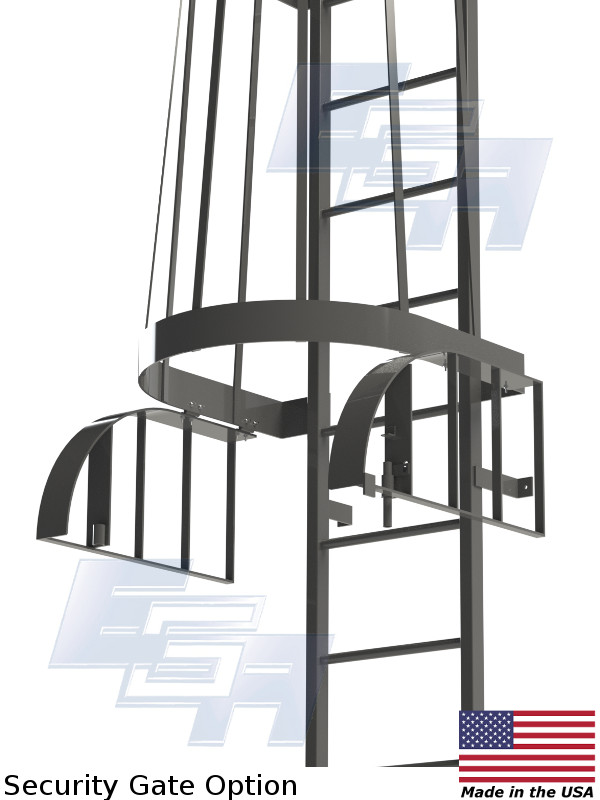 Fixed Vertical Amp Cage Ladders Fc Amp Fv Series Made In The Usa Fl007 Ega