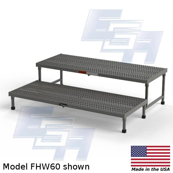 model fhw60 2 step work platform