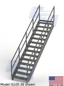 ega products industrial metal stairway is105-36