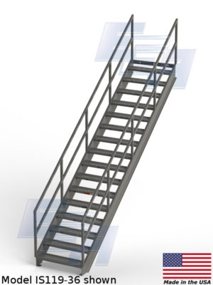 model is119-36 industrial stair case access