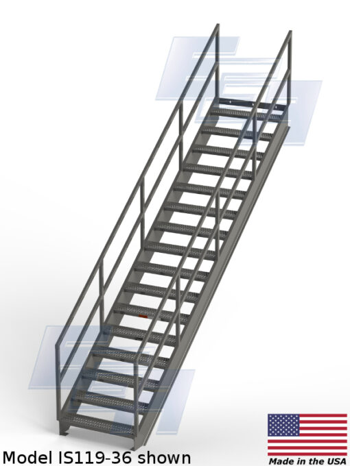 Industrial Stairways ∠36.4º (IS – SERIES) [Made in the USA]
