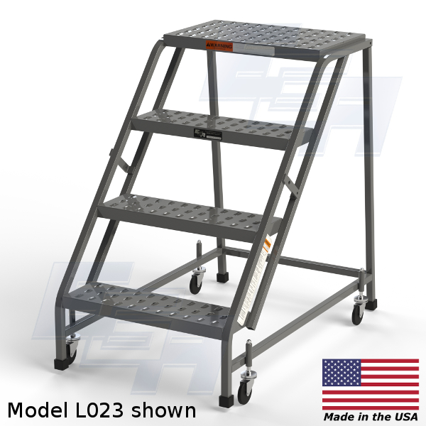 4 step rolling ladder