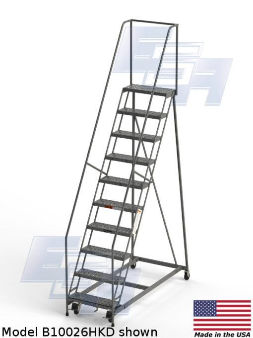 Industrial Rolling Ladders – Round Tube ∠60º (B & G – SERIES)