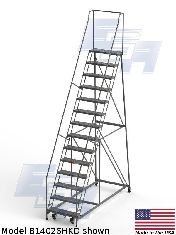 Industrial Rolling Ladders Knocked Down Ezy Tread