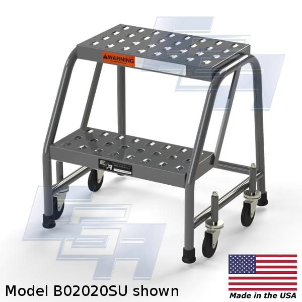 MB2020SU-WM 2 step rolling stool