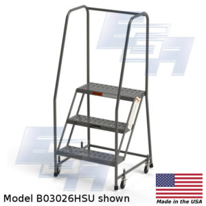 3 step rolling step ladder with handles