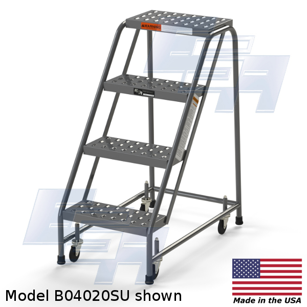 Industrial Rolling Ladders Set Up Ezy Tread B04020su