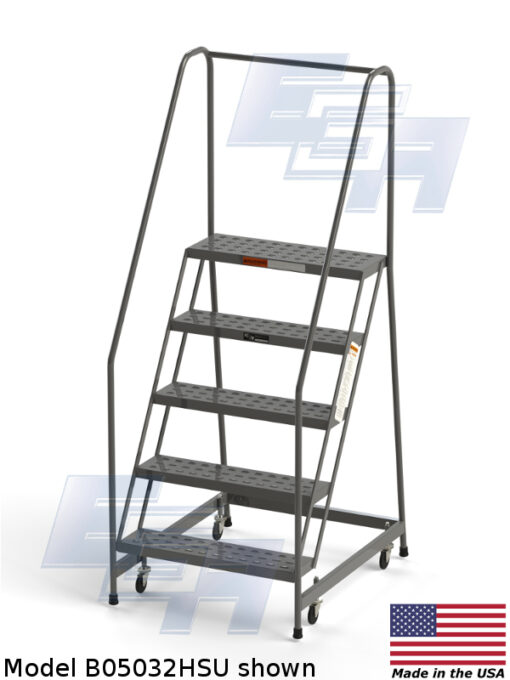 Industrial Rolling Ladders – Knocked Down – Grip Strut