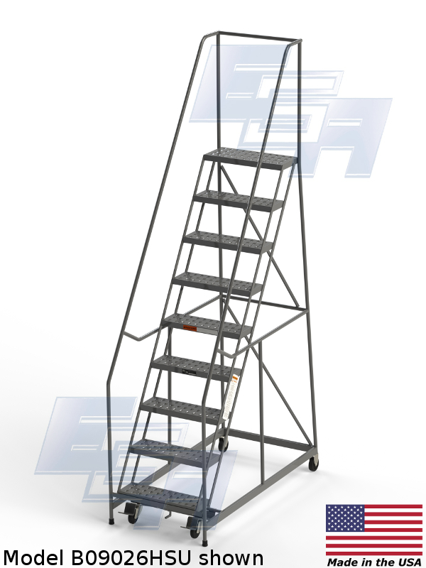 b09026hsu American made rolling ladder
