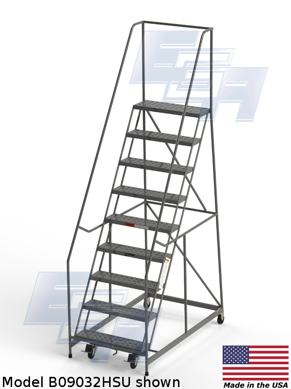 b09032hsu American made rolling ladder