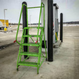 truck stop ladder awaits its next use