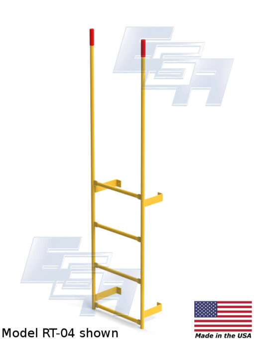 Wall-Mount Walk-through Steel Dock Ladder