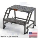z019 rolling 2 step stool