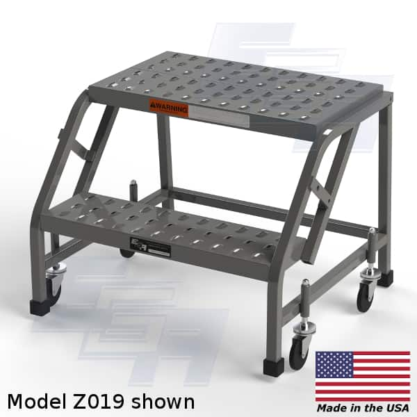 z019 rolling 2 step stool  sc 1 st  EGA Products Inc & EZY Climb ? 50º (Z - SERIES) Rolling Step Ladder [Made in USA] islam-shia.org