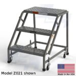 model z021 3 step rolling ladder