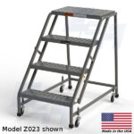 model z023 4 step access ladder rolling