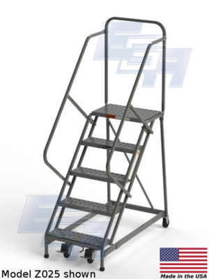 model z025 rolling ladder from ega products