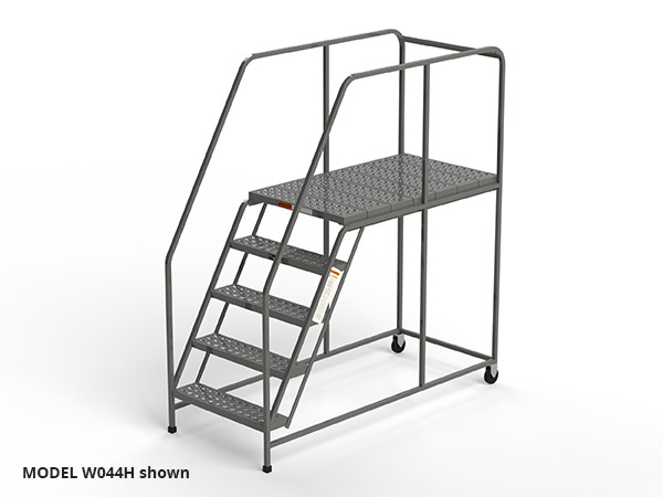 W044H-five-step-rolling-ladder-work-platform