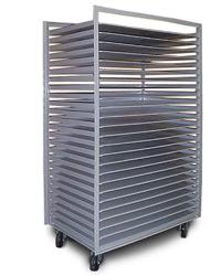 flat media tray cart