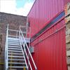 Galvanized Industrial Stairways - Landings