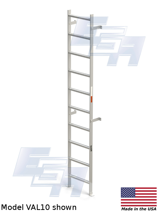 VAL-10-WM fixed warehouse ladder