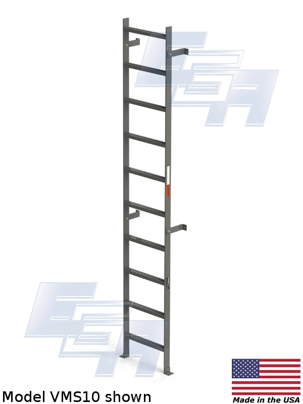 Mild Steel Vertical Ladders Vms Series Vms10 Ega