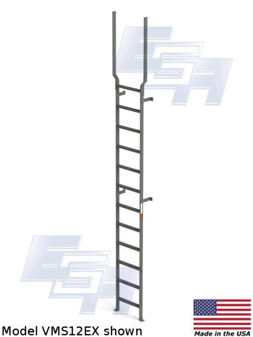 Mild Steel Vertical Ladders Vms Series Mvms12ex Ega