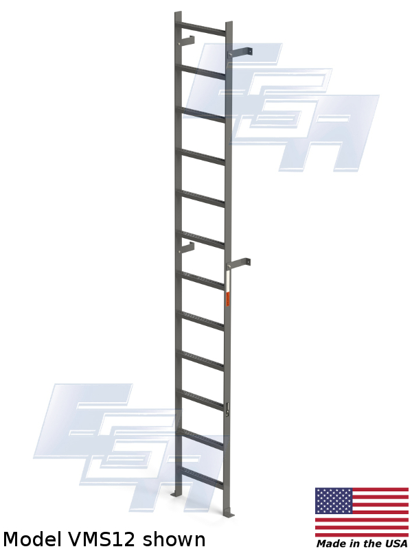 Vertical Wall Mount Ladders Made In Usa Val Wo Series 1