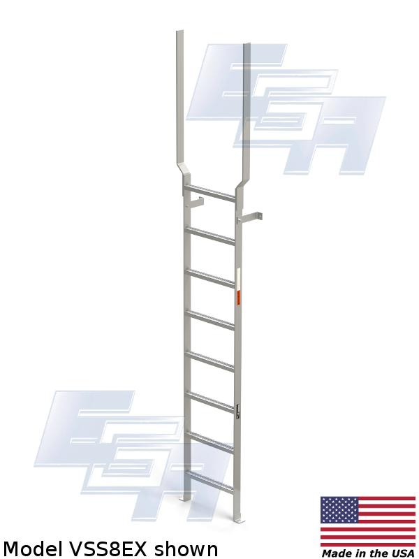 aluminum wall mounted ladder
