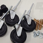 caster wheel sets rolling ladder parts