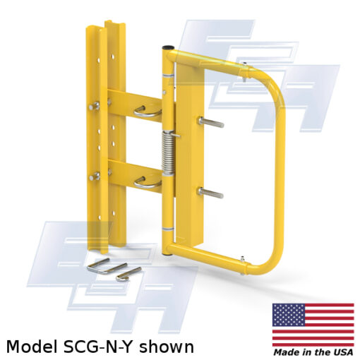 industrial swing gate scg-n-y warehouse safety gate